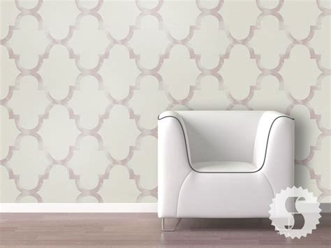 removeable wall paper distressed trellis