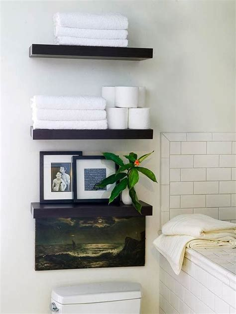 fascinating bathroom wall shelving ideas for