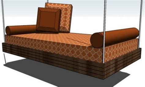 swing bed plans hanging porch swing bed plans woodworking projects plans