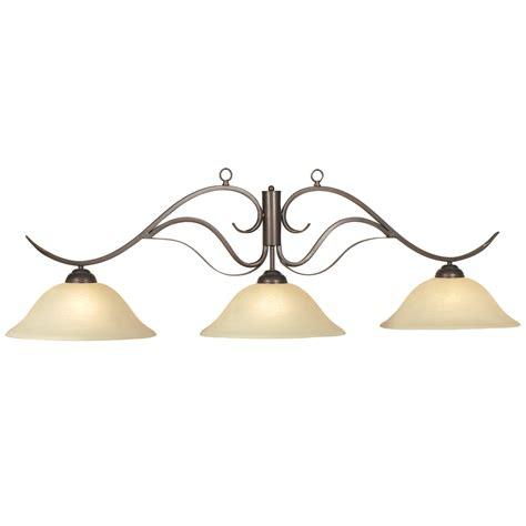 bronze bad light 56 quot 3 light bronze monaco pool table light billiardlux