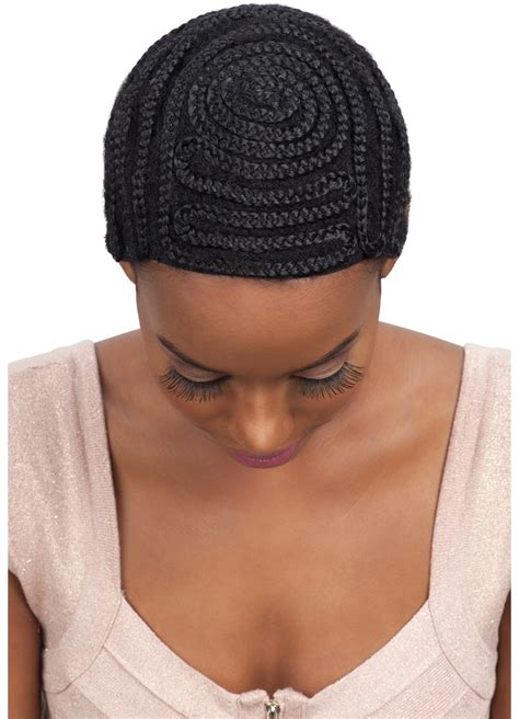 crochet hair look hat patterns model model protectif style braided cap full bang pattern