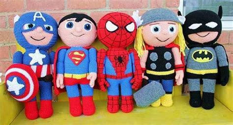 free knitting pattern spiderman toy free superhero crochet patterns one by me for you