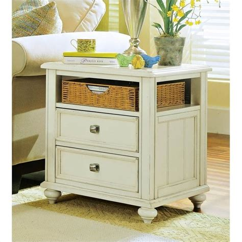 rectangular square end tables with storage hammary mercantile rectangular storage end table in