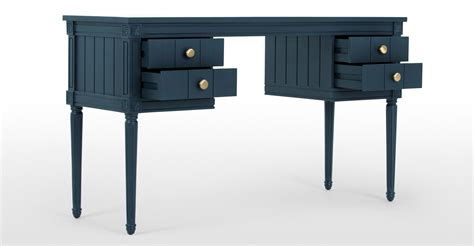 bourbon vintage desk blue made