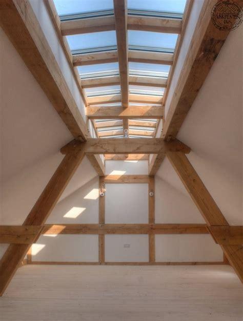 glazed roof light lantern and exposed oak frame creating