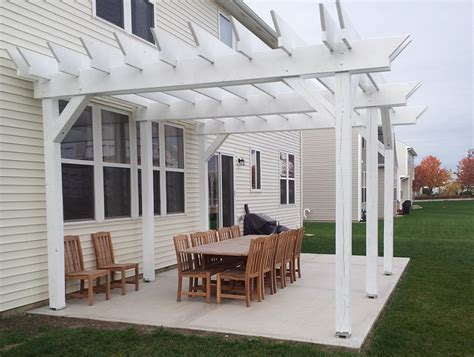 sted concrete patio with pergola home design ideas