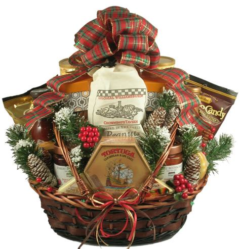 a country christmas deluxe gift basket