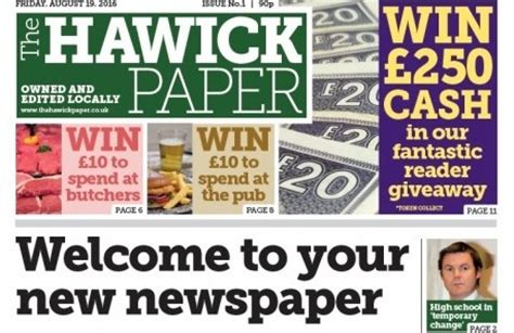 former johnston press editor launches new weekly to rival