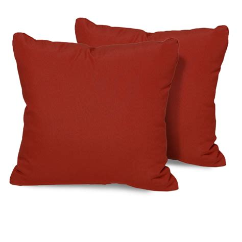 terracotta outdoor throw pillows square set of 2