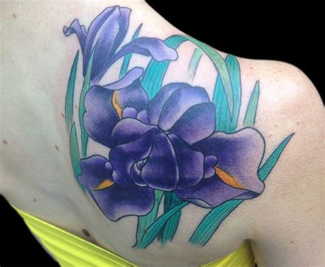 purple flower tattoo designs 20 black and white iris designs
