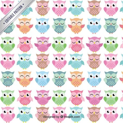 cute pattern clipart cute owls pattern vector free download