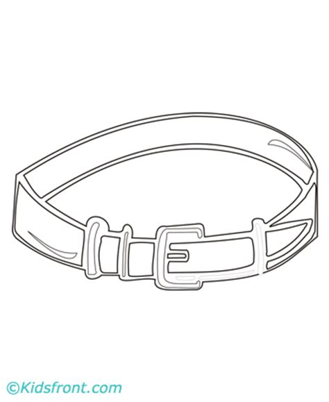 Belt Coloring Pages Printable Belt Of Coloring Page