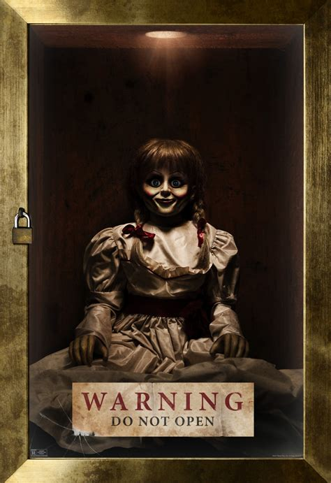 annabelle doll dvd new annabelle creation poster and tv spots locked away