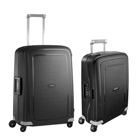 set samsonite s cure cabin and medium suitcase sus