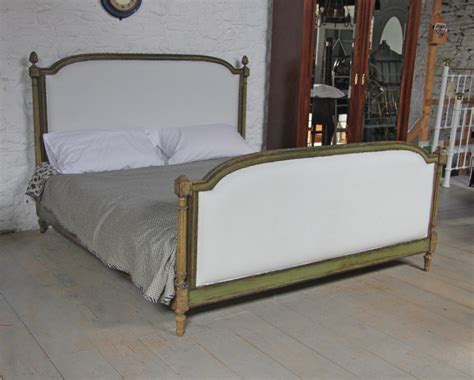 Superking Bed Frame Uk King Size Louis Xv1 Style Upholstered Bed With Original Painted Frame 297349