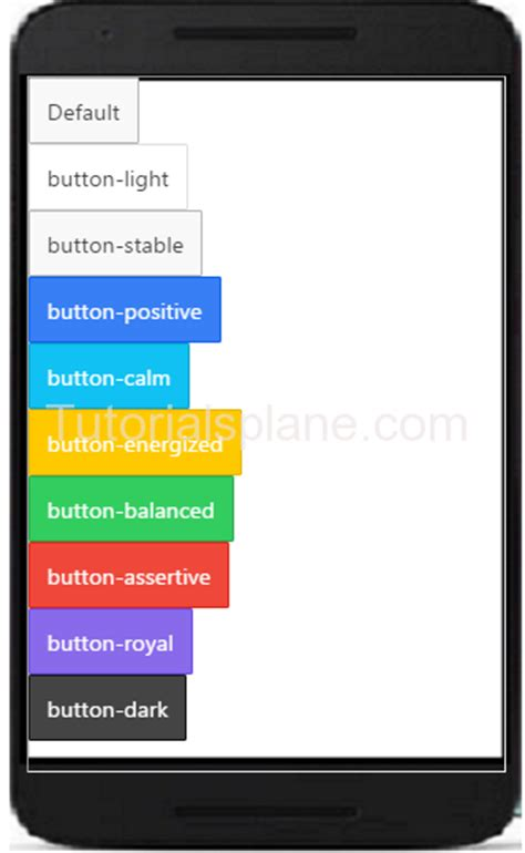 Ionic Tutorial Button | ionic buttons exle clear full with icons styles