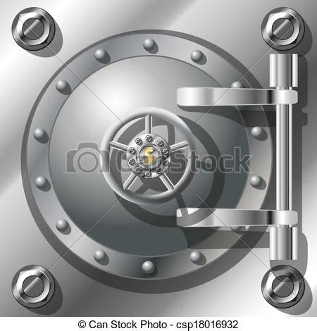 vectors of bank vault door detailed vector illustration radient mash csp18016932 search clip