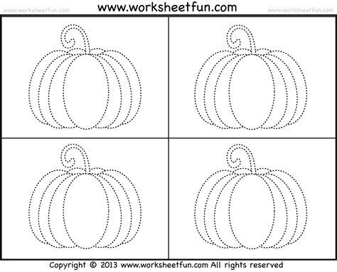 printable tracing pumpkins pumpkin tracing 3 worksheets free printable worksheets