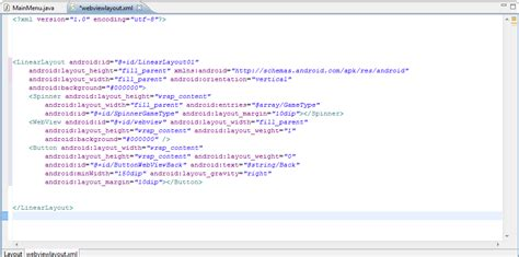 android layout xml string android dom formatting android layout xml in eclipse
