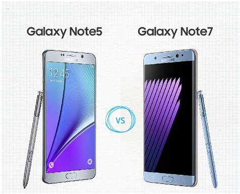samsung galaxy note 7 vs galaxy note 5 specs comparison