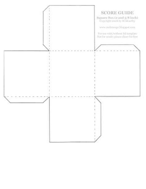 square box template square box with lid template image search results