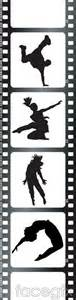 silhouette vector dance film hip hop free download