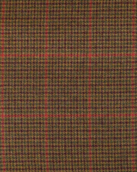 green houndstooth upholstery fabric pure wool donegal tweed fabric green red houndstooth