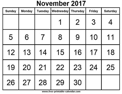 printable calendar november 2017 with notes free printable calendars for free download november 2017