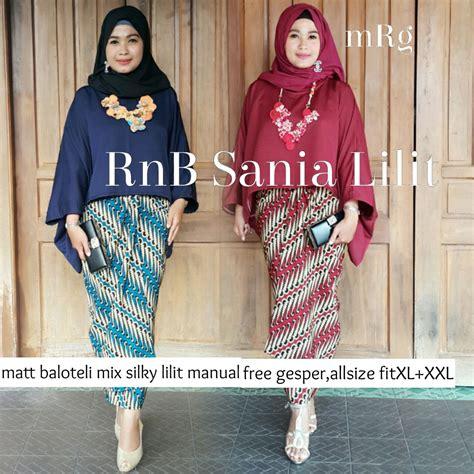 Kebaya Setelan Atasan Dan Bawahan Skirt Batik Restya Set setelan batik atasan blouse dan bawahan rok panjang rnb