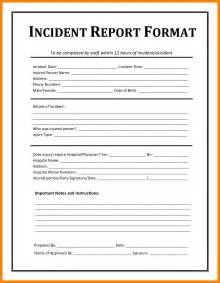 Sle Of Incident Report Letter In School 6 Report Form Templates Daily Log Sheet