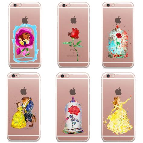 Iphone 6 6s The Beast 3d Rhinestones Softcase Tpu 1061 and the beast snow white princess soft clear tpu for iphone 7 7plus 6s 6 6s