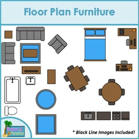 furniture clipart for floor plans clips and salsa teaching resources teachers pay teachers