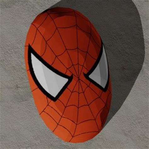 marvel papercraft spider man mask