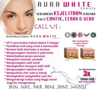 Aura White Collagen Indonesia aura white gluta collagen harga murah giler borong kosmetik murah giler