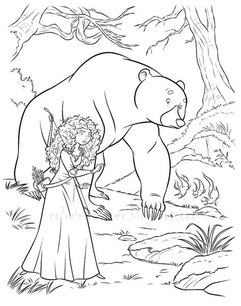 coloring pages disney brave brave coloring pages