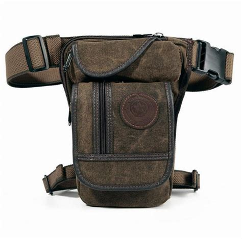 Visval Ryga Navy Hip Pack Waist Sling Bag Tas Pinggang new s canvas hip belt bum pack waist thigh leg drop bag motorcycle