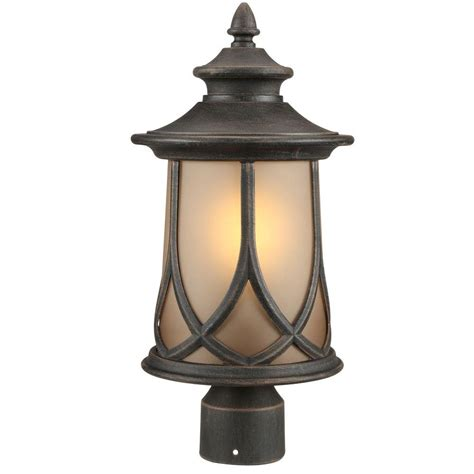 Progress Outdoor Lighting Progress Lighting Resort Collection 1 Light Aged Copper Outdoor Post Lantern P6404 122di The