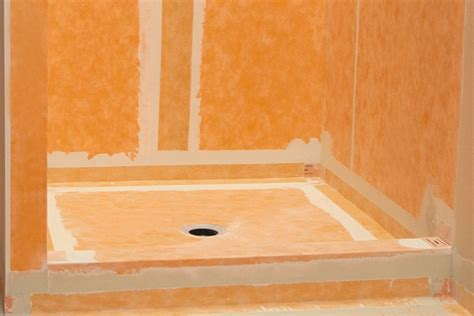 bathroom membrane system schluter 174 kerdi waterproofing kerdi membranes