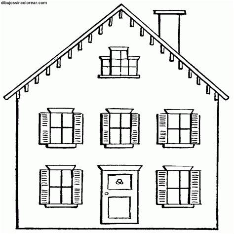 Dibujos Sin Colorear Dibujos De Casas Para Colorear