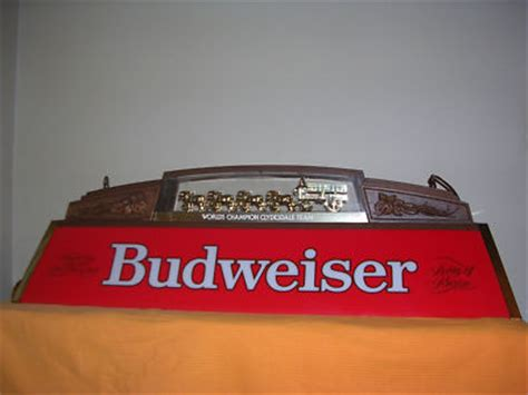 Budweiser Pool Table Lights by Vintage Budweiser Clydesdale Pool Table Light L K