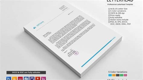 small business letterhead templates word psd