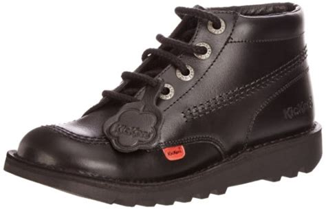 Kickers Boots Tracking Black kickers kick hi youth black leather ankle boots uk 5
