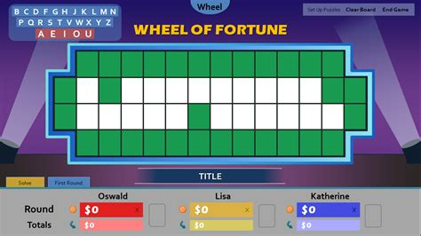 Wheel Of Fortune Board Template Quantumgaming Co Wheel Of Fortune Powerpoint Template