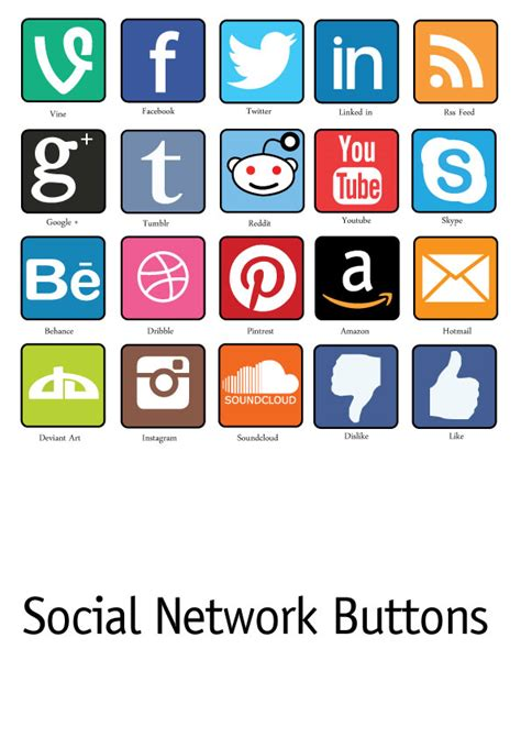 Free Email Social Network Search Free Social Network Icon Pack Colour By Stockdaledesigns