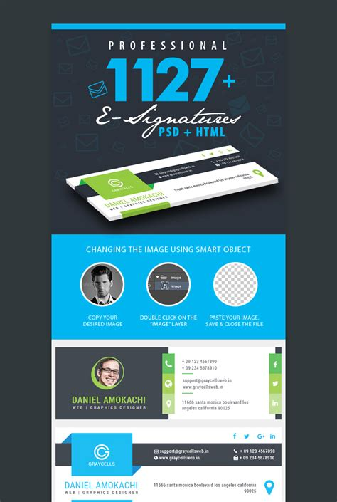 12 Professional Email Signature Templates With Unique Designs Codeholder Net Unique Email Templates