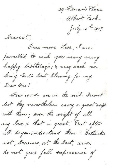birthday love letters a message of love and birthday wishes 1907 a love letter
