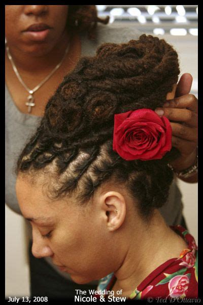 diy loc updo how to style your dreads on your wedding day dreads