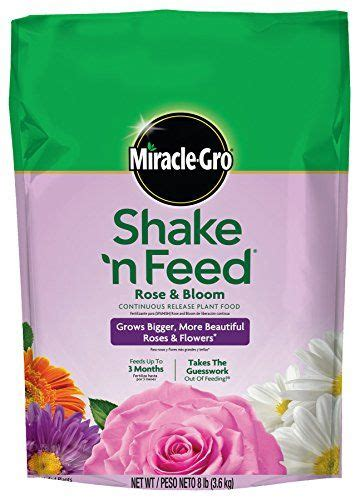 miraclegro shake  feed continuous release rose  bloom plant food pound slow release plant
