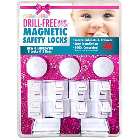 safety baby magnetic cabinet locks 3m 8 locks 3 keys drill free 3m adhesive magnetic safety