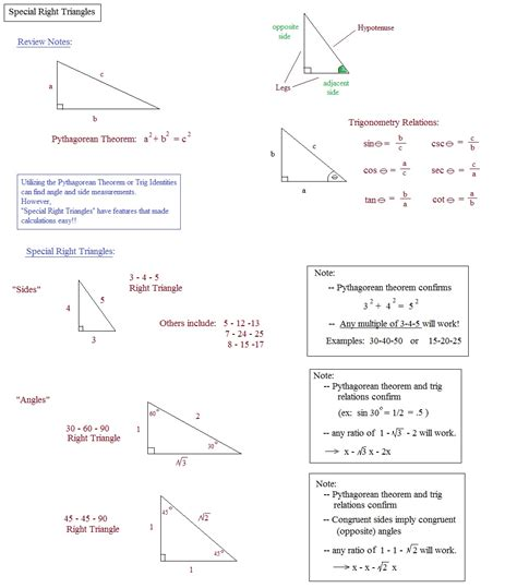 Special Right Triangles Worksheet 30 60 90 Answers by Pictures Special Right Triangles 30 60 90 Worksheet